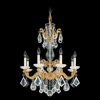 Schonbek La Scala Rock Crystal 8 Light Chandelier