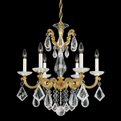 Schonbek La Scala 6 Light Chandelier with Crystal