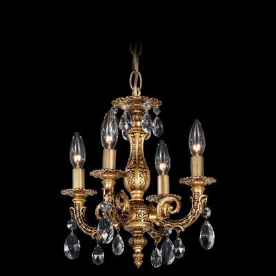 Schonbek Milano 4 Light Mini Chandelier