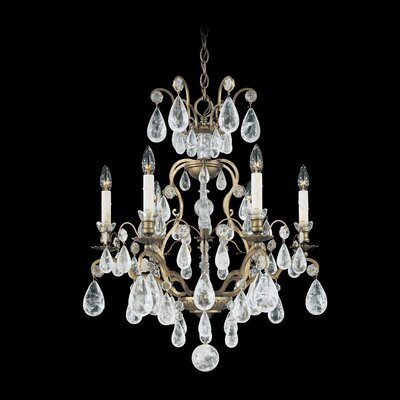 Schonbek Versailles Rock Crystal 6 Light Chandelier