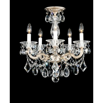Schonbek La Scala 5 Light Convertible Chandelier