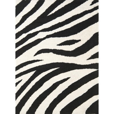 Cloud Zebra Stripe Shag Rug