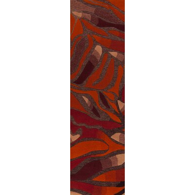 Destinations Wine/Poppy Ruged Rug