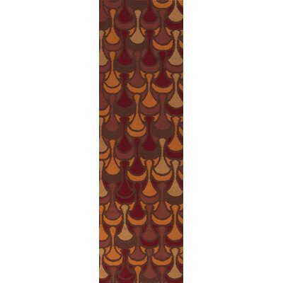 Malene b Voyages Chocolate/Burnt Orange Rug
