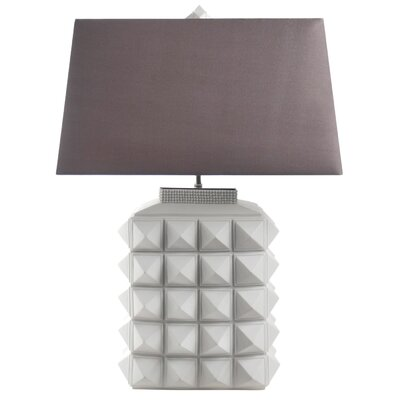 "Jonathan Adler Charade Studded 23.4"" H Table Lamp with Rectangle Shade"
