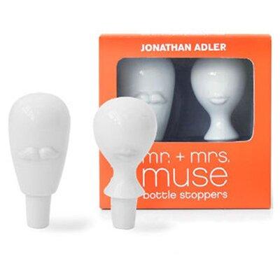 Jonathan Adler Mr. and Mrs. 2 Piece Muse Bottle Stopper Set