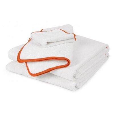 Orange Piped Hand Towel