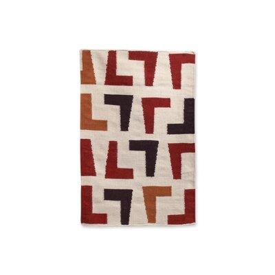 Arthur Kilim Red/Natural Rug