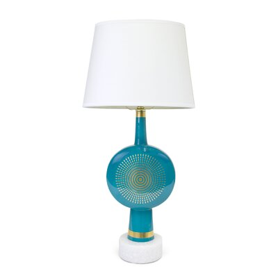 "Jonathan Adler Santorini Electra 21"" H Table Lamp with Empire Shade"