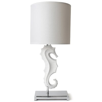 """Jonathan Adler Seahorse 25"""" H Table Lamp with Empire Shade"""