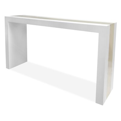 White console tables allmodern for Modern white lacquer console table