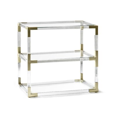 Jacques Lucite 2 Tier Table