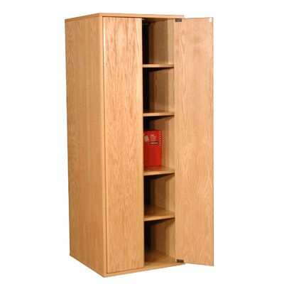 Rush Furniture Modular Real Oak Wood Veneer Oak Panel Enclosed Storage Cabinet