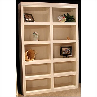 "Rush Furniture Charles Harris 72"" H Double Bookcase in White"