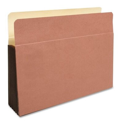 "Kleer-Fax, Inc. File Pockets, 11-3/4""x9-1/2""x5-1/4"", 25 Count, Redrope"