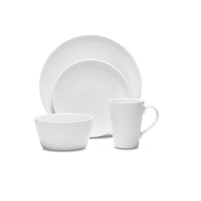 Noritake WoW Swirl 4 Piece Place Setting