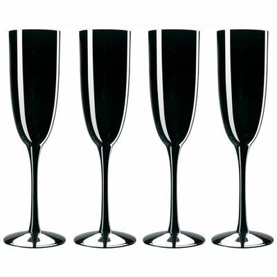 <strong>Noritake</strong> Palais Black 6 oz. Champagne Flutes (Set of 4)