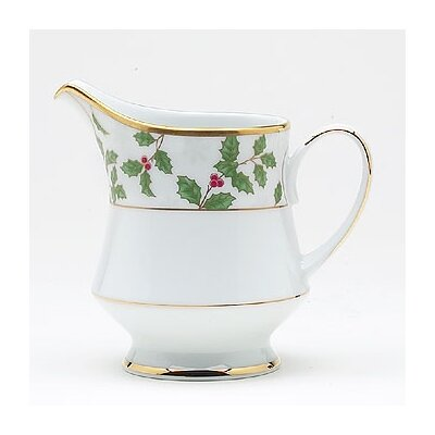 Noritake Holly and Berry Gold 8 oz. Creamer