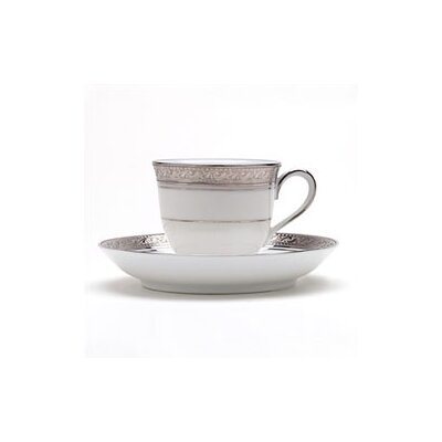 Noritake Crestwood Platinum 3 oz. After Dinner Cup and Saucer