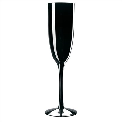 Noritake Palais Black 6 oz. Champagne Flutes (Set of 4)
