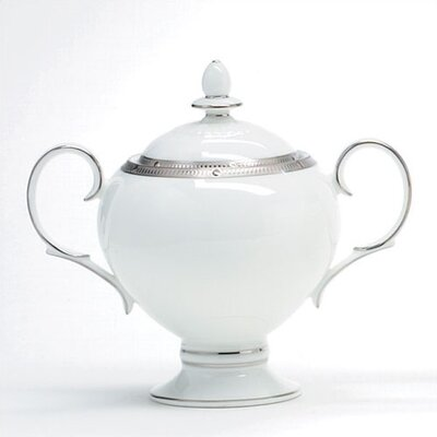 Noritake Rochelle Platinum 9 oz. Sugar Dish with Cover