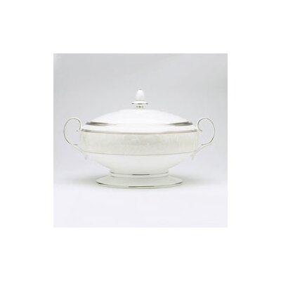 Noritake Satin Lace 70 oz. Covered Vegetable Bowl