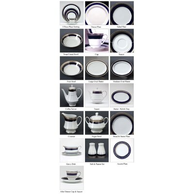 Noritake Crestwood Cobalt Platinum Dinnerware Collection
