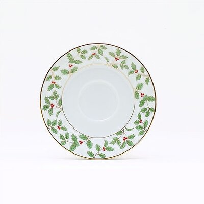 "Noritake Holly and Berry Gold 6"" Saucer"