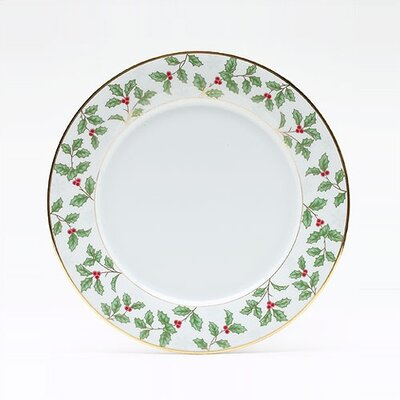 "Noritake Holly and Berry Gold 10.5"" Dinner Plate"