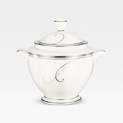 Noritake Platinum Wave Sugar Bowl with Lid