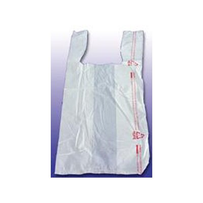 Barnes Paper Company Thank You High-Density Shopping Bag in White