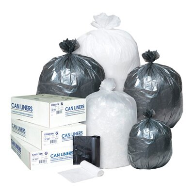 Inteplast Group 16 Gallon High Density Can Liner, 8 Micron in Black