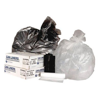 Inteplast Group 60 Gallon High Density Can Liner, 22 Micron Equivalent in Black