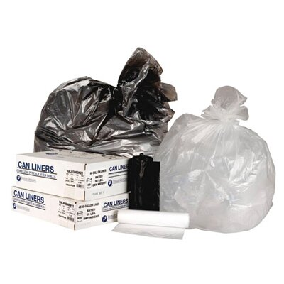 Inteplast Group 60 Gallon High Density Can Liner, 14 Micron Equivalent in Clear