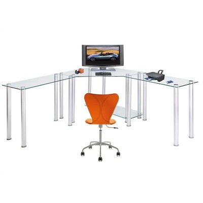 RTA Home And Office CT Computer/Laptop Desk Corner Computer Desk with Right and Left Extension ...