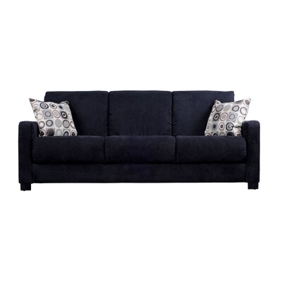 Convert a Couch Microfiber Sleeper Sofa in Black