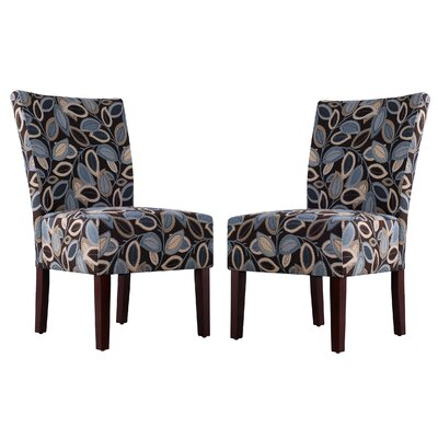 Handy Living Dunley Fabric Slipper Chair (Set of 2)
