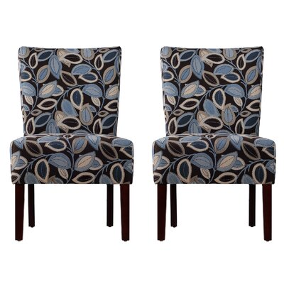 Dunley Fabric Slipper Chair (Set of 2)