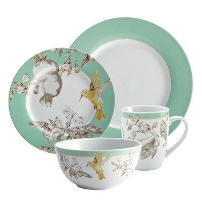 BonJour Fruitful Nectar Porcelain 16-Piece Dinnerware Set
