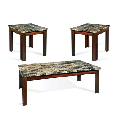 montibello 3 piece coffee table set wayfair. Black Bedroom Furniture Sets. Home Design Ideas