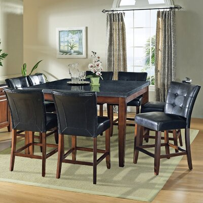 Steve Silver Furniture Granite Bello 9 Piece Counter Height Dining Set