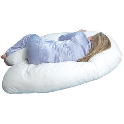 LeachCo Back N Belly Contoured Body Pillow in Ivory
