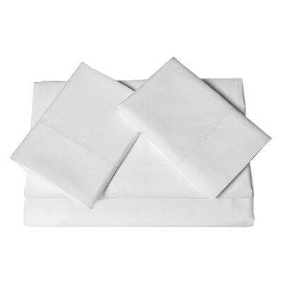 Tribeca Living 600 Thread Count 4-Piece Egyptian Cotton Sateen Deep Pocket Sheet Set