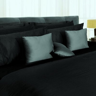Tribeca Living Egyptian Solid 3 Piece Duvet Set