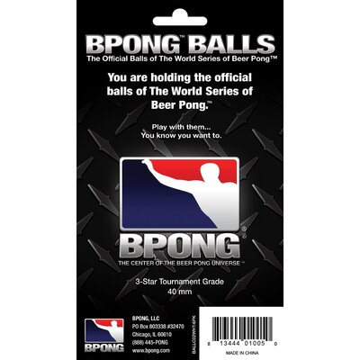 BPONG Beer Pong Ball (Pack 6)
