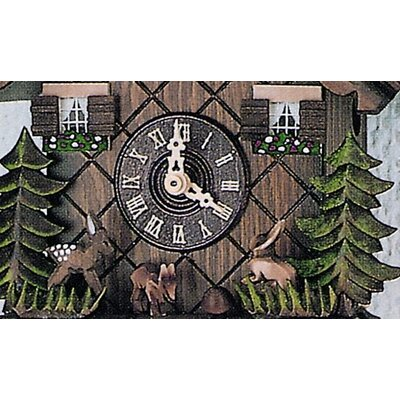 "Schneider 10"" Cuckoo Clock with Hand Carved Bambi and Hare"