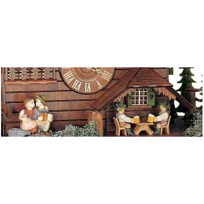 "Schneider 20"" 8-Day Movement Cuckoo Clock with Two Different Animations"
