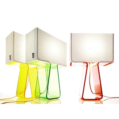 "Pablo Designs Tube Top 14"" H Table Lamp with Rectangle Shade"