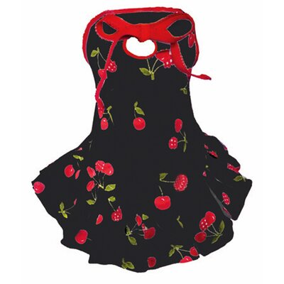 Hip Doggie Dog Dress in Black Cherry