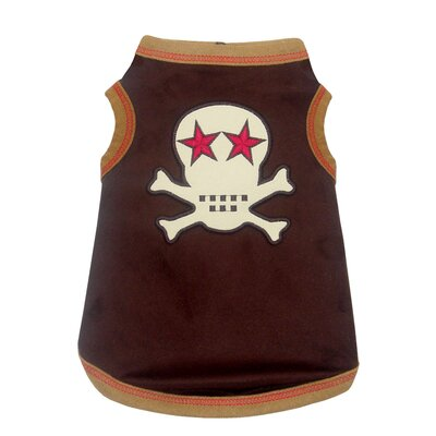 Hip Doggie Skull Dog Tank in Brown